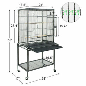 """Bird Cage Large Play Top Bird Parrot Finch Cage Macaw Cockatoo Pet Supplies 53"""""""