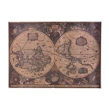 72x51cm Retro Vintage Globe Old World Map Matte Brown Paper Poster Home Decor