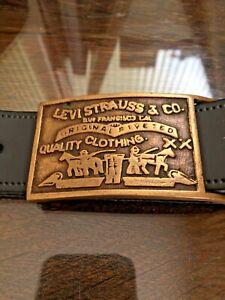 Levi Strauss Belt Buckle genuine vintage Original  Belt buckle with leather belt