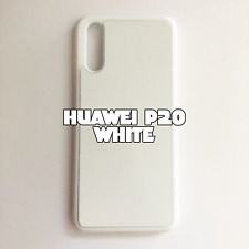 2D Rubber Sublimation Blank Case for Huawei P20 White