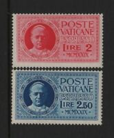 """VATICAN STAMP EXPRESS LETTERS YVERT 1 - 2 """" POPE PIE 1929 """" MNH VF RARE  T847"""
