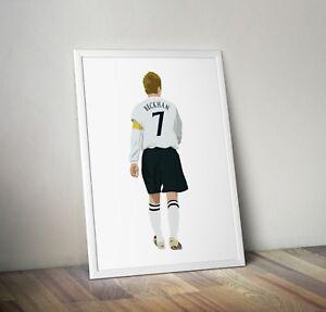 David Beckham, England, Football, Print, Poster, Wall Art, Gifts, Home Decor