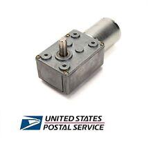 US Ship High torque Turbo worm Geared motor DC motor GW370 12V 8rpm