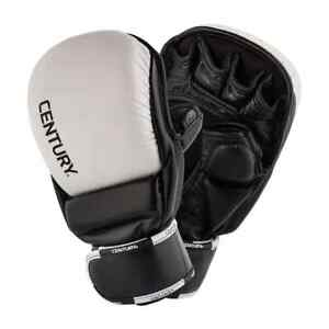 Century CREED Leather Open Palm Training Mitts Black/White Size M New 146014