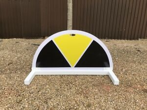 Black and Yellow Half Moon Segment Show jump Filler-For Showjumping