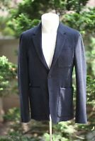 Burberry Mens Sport Jacket Wool Elbow Patches 36R Navy NWT $895