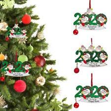 2020 Merry Christmas Family Member Pendants Xmas Tree Hanging Ornaments Home Dec