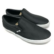 Vans (Perf Leather) Slip On - Black/Black