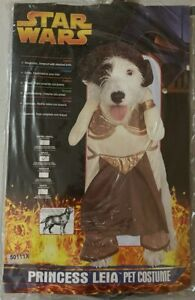 Star Wars Princess Leia Pet Costume - Small 10-12 inches - FREE SHIPPING