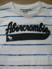 BOYS GENUINE ABERCROMBIE & FITCH TSHIRT TOP 13-14 YEARS  BLUE WHITE
