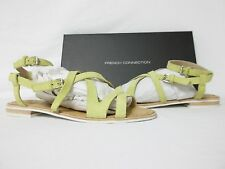 French Connection 8 M Harper Lemon Leather Gladiator Sandals New Womens Shoes