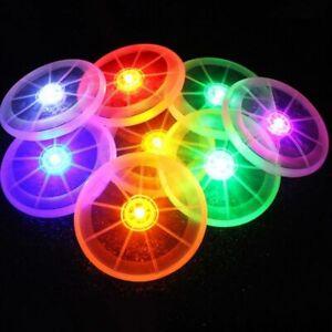 Dog Flying Disc Toy LED Light Luminous Pet Supplies Frisbee Dog Training Chewing