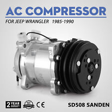 NEW Sanden SD508 AC COMPRESSOR AND CLUTCH for Jeep Wrangler 85-90 57551 soon