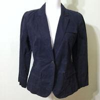 LOFT Classic Jacket Blazer Navy Size 4 Women's Cotton Blue