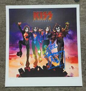 Ace Frehley SIGNED DESTROYER FOIL LITHOGRAPH Poster KISS AUTOGRAPH