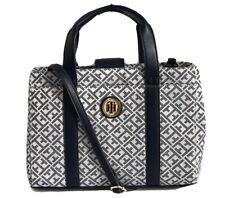 TOMMY HILFIGER Logo Signature Satchel Shopper Handbag Purse, Blue, NWT $98