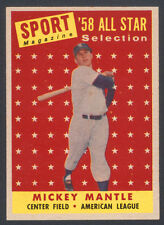 1958 TOPPS ~ #487 ~ MICKEY MANTLE ~ SHARP ~ BEST PRICED DEAL ON EBAY