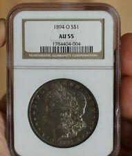 $1 SILVER MORGAN DOLLAR NGC AU55 1894-O KEY DATE