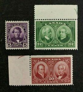 Sc 146-48 - Canada - 1927 - Historical Issue -  MH - F/VF -  superfleas - cv$46