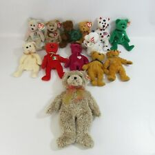 New ListingTy Beanie Babies Lot of 12 Plush Teddy Bears Collection Bean Bag Dolls Java