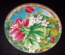 """Gien VOLUPTE, Multi Color Flower Motif, Cake Plate or Platter, 11 7/8"""" Across"""