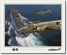 Ormoc Bay - A Dangerous Place by Jack Fellows - B-25 Mitchell - Aviation Art