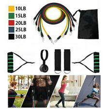 11pcs Resistance Trainer Set Home Exercise Fitness Gym Workout Bands Strength US