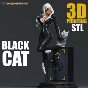 3D Printed - Resin - Black Cat - Marvel - 3DXM - scale 1/16