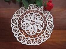 Vintage Style Hand Needle Lace White Cotton Doily 22cm