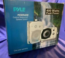 "PYLE PDWR40-W,  2-Way 5-1/4"" Weatherproof In/Outdoor Spkrs, w/brackets, Pair-NEW"