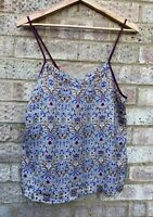Primark 'William Morris Liberty Style Print' Floral Blouse Vest Top 8/10 Holiday