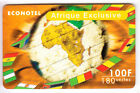 FRANCE TELECARTE / PHONECARD PREPAYEE .. 100F AFRIQUE CARTE MAP EXCLUSIVE +N°