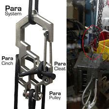 2Pcs Multi-Tools Stainless Steel EDC Para-Biner Pulley System Carabiner Opener