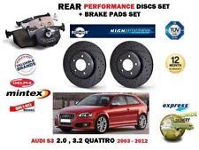 para AUDI A3 3.2 S3 2.0 quattro 2003-2012 Trasero Rendimiento DISCOS DE FRENO +