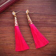 Stylish Bohemian Earrings Women Vintage Long Tassel Fringe Boho Dangle Earrings