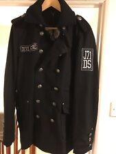 Devil Stone Men's Wool Trench Coat Black (DSJK001)