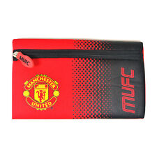 MANCHESTER UNITED FC FADE SCHOOL PENCIL CASE COVER FLAT NEOPRENE NEW GIFT XMAS