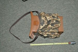 VINTAGE WOODSTREAM 9080 HUNTING SEAT - BROWN WITH CAMO POCKETS & CARRY STRAP