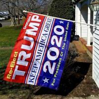 RE-Elect Donald J. Trump Keep America Great! 2020 3'x5' Flag Grommets MAGA Flag