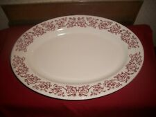 "VITG BUFFALO CHINA RESTAURANT WARE TRANSFERWARE OVAL SERVING PLATE 15"" PLATTER"