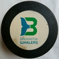 BINGHAMTON WHALERS VINTAGE APPROVED INGLASCO RARE AHL OFFICIAL GAME PUCK CANADA