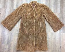 vintage Authentic Brown Full Length Fur Coat - Wisconsin Nigbor Fur Co - Size