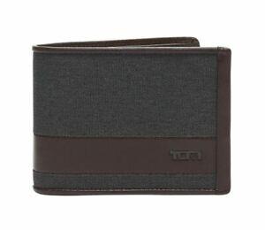 TUMI Alpha Multi Card Case Double Billfold Grey Leather Trim 135607 NWT $115