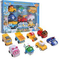 8Pcs/Lot Robocar Poli Ambe Roy Helly Robot Transformers Kids Educational Toys UK