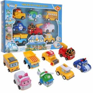 8Pcs/Lot Robocar Poli Ambe Roy Helly Robot Transformers Kids Educational Toys UK