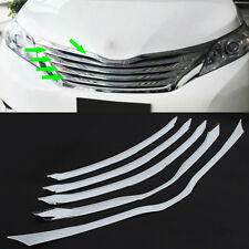 ABS Chrome Front Center Upper Grille Cover Trim Fit For Toyota Sienna 2011-2015