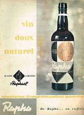 J- Publicité Advertising 1958 Aperitif Rapha St Raphael