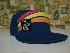 The Color Run Flat Bill Hat One Size Fits All Blue with Orange Yellow Red Arch