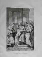 1830 Aguafuerte Boda de Santa Catalina Sposalicio di Caterina Rosaspina Tibaldi