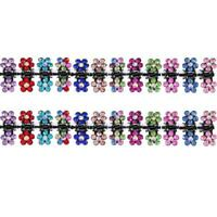 60 Pieces Baby Girls Hair Claw Clips Crystal Rhinestone Mini Hair Clips Mix B6T6